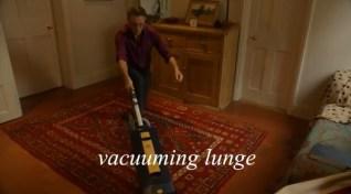 vacuuming lunge