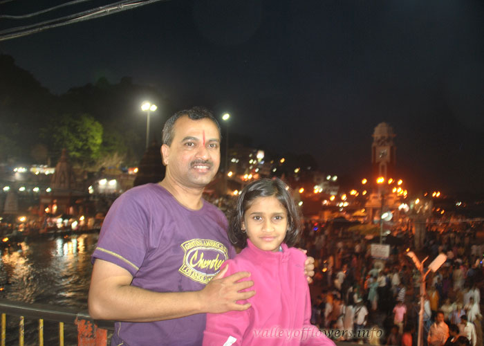 Me and My father at Ganga Ghat for Aarti