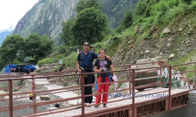 Bridge near Bhyuandar village on the trek between Govindghat and Ghangaria.