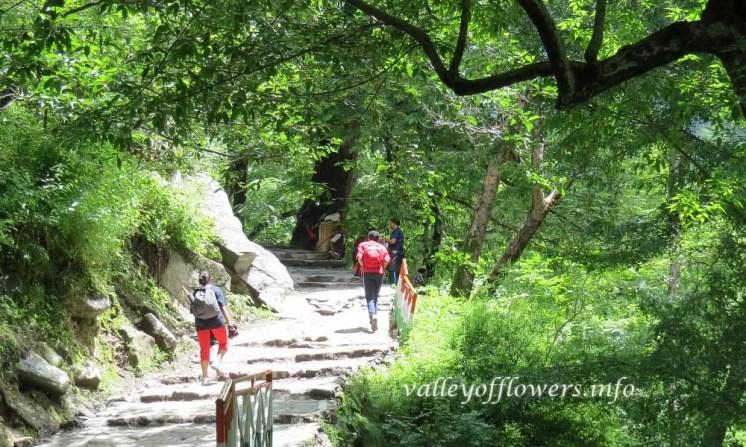 Valley of flowers trek Govindghat to Ghangaria