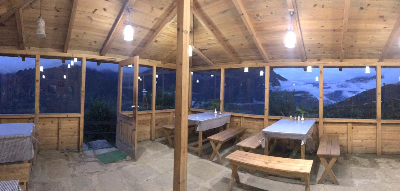 Blue Poppy Resorts restaurant, Nanda Devi view