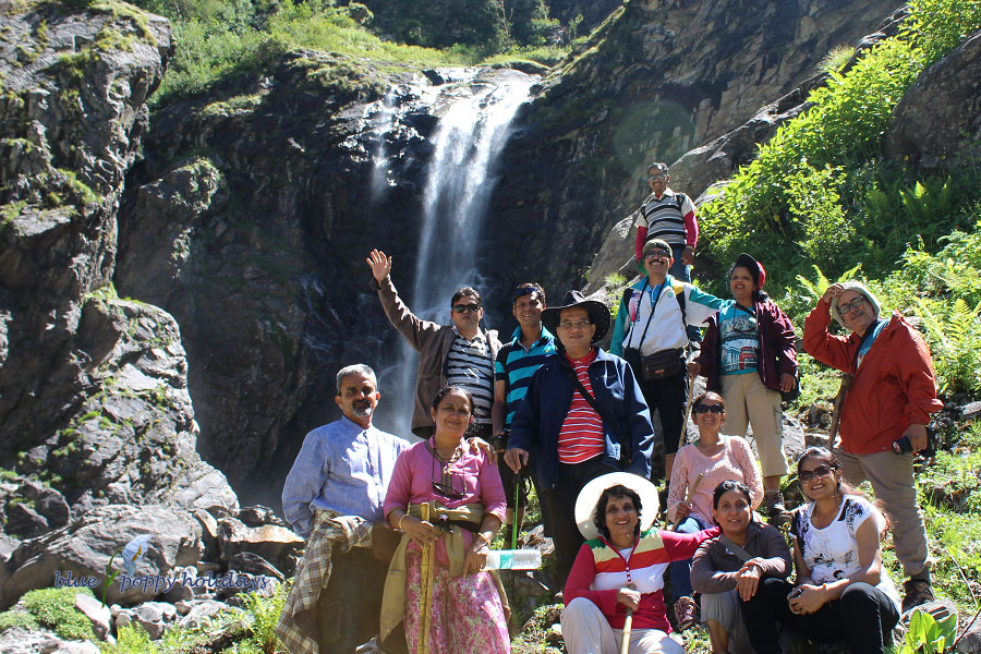 One of our group near Ghangaria