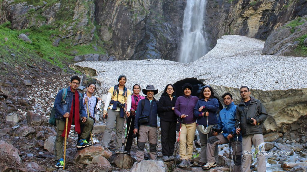 Our group near Ghangaria Village. One the way to Valley of flowers