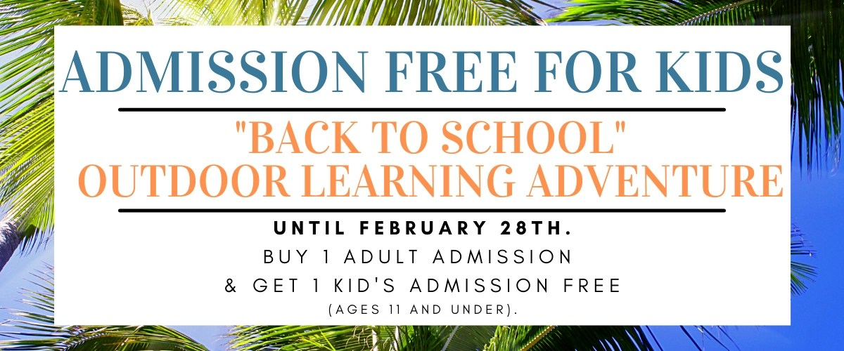 admission free for kids back to school outdoor learning adventure