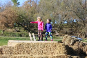 Girls on Straw Fort