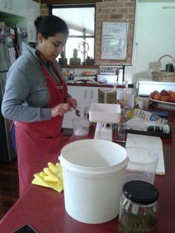 Isa - soap making