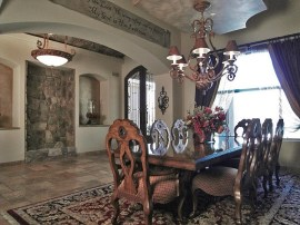 formal dining room with custom touches