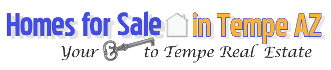 logo welcoming visitors to an authority page for Tempe homes for sale