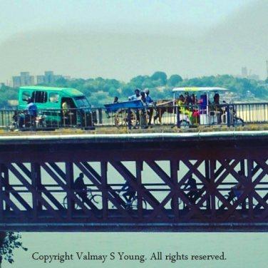 Shuklaganj Bridge crossing the River Ganges, Kanpur