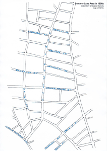 Summer Lane Area Map