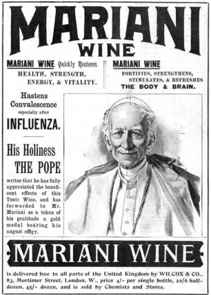 Pope Leo advertising Vin Mariani
