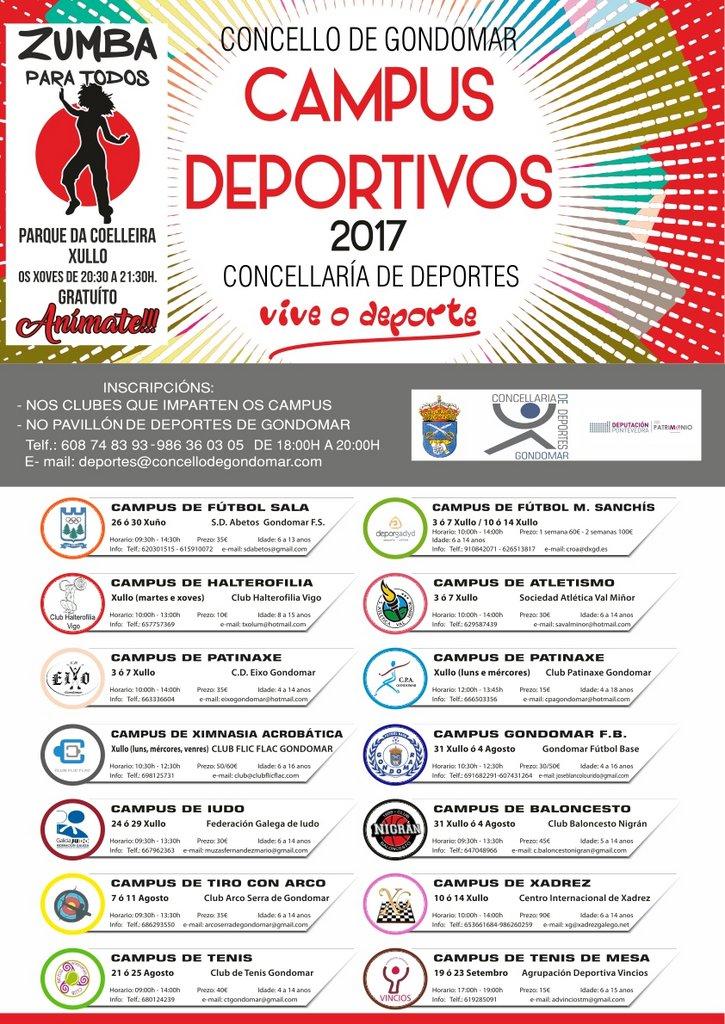 CAMPUS DEPORTIVOS 2017 GONDOMAR