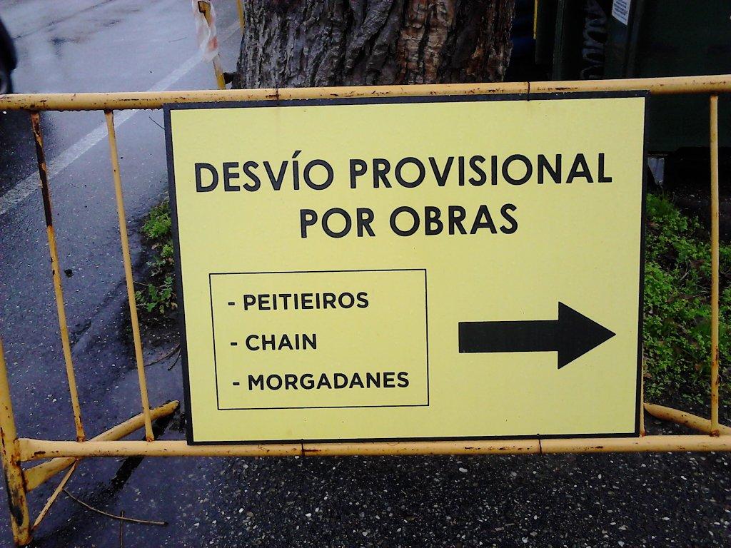 CARTEL DE DESFÍO DE TRÁFICO A «MORGADANES»