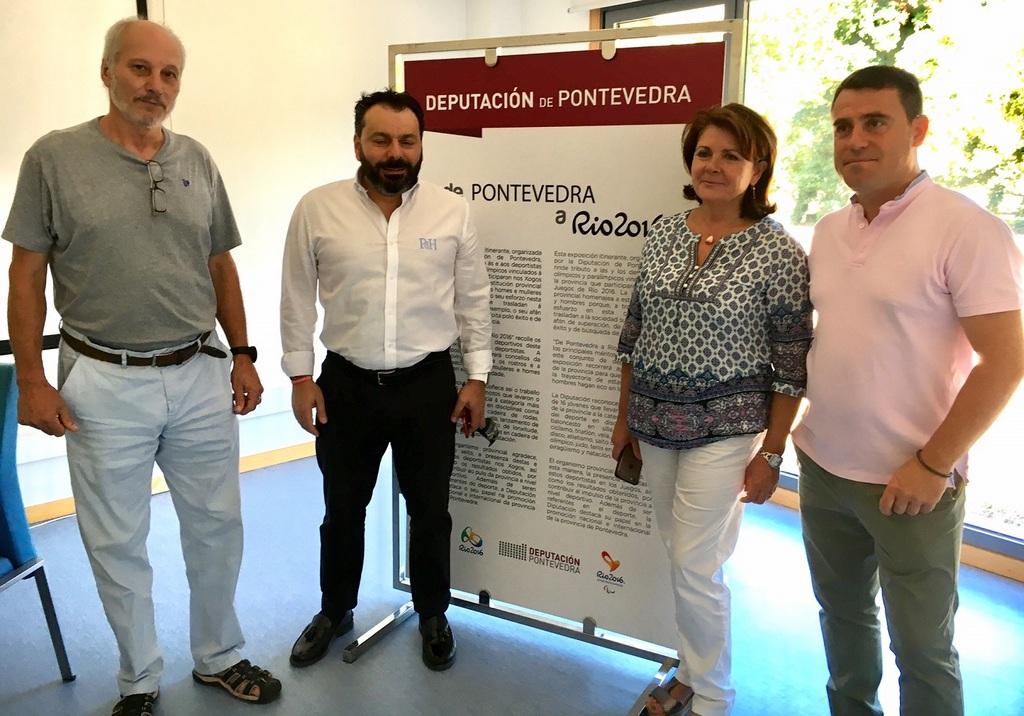 """INAUGURACIÓN DA EXPOSICIÓN """"DE PONTEVEDRA A RÍO 2016"""" EN GONDOMAR"""