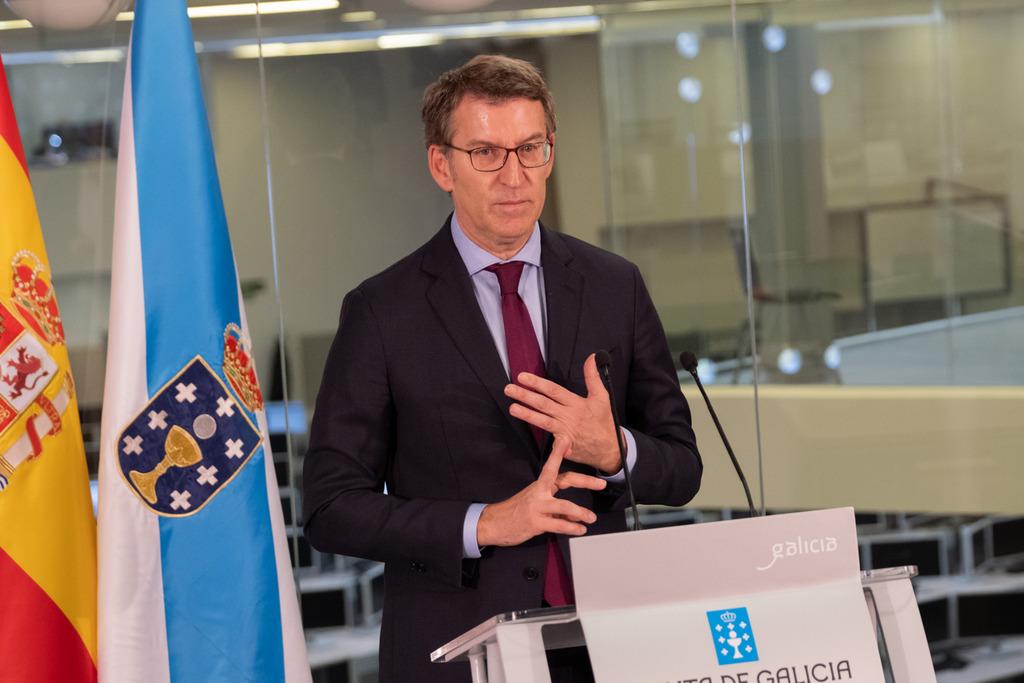 O titular do Goberno galego na rolda de prensa posterior á reunión do Consello da Xunta