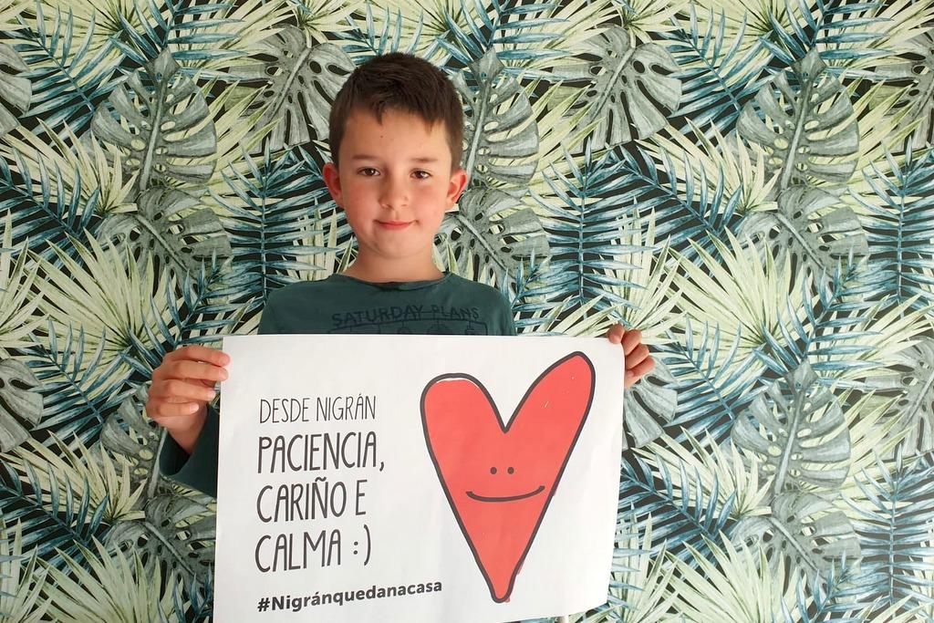 Nigrán lanza unha campaña para visibilizar na rúa e nas redes aos nenos e nenas confinados