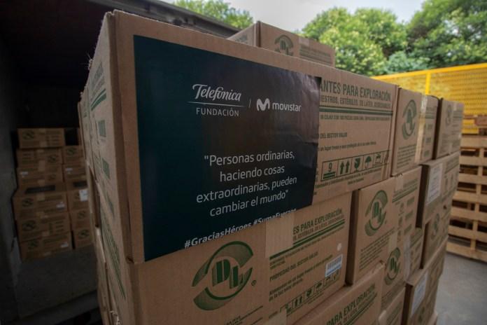 Fundación Telefónica hace donación a IMSS por COVID