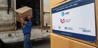 Fundación BBVA se une al donativo voluntario realizado por colaboradores de AT&T en México