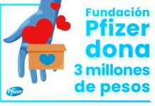 Pfizer dona tres millones de pesos a Cruz Roja Mexicana en la lucha contra la COVID-19