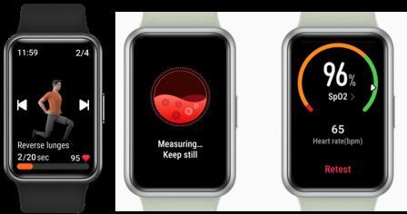 Smartwatches de Huawei que registran el ritmo cardíaco, calidad de sueño y nivel de estrés, entre otros,