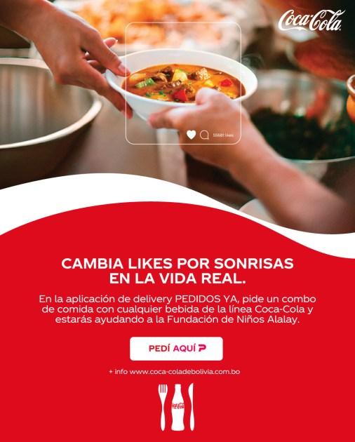 Para Todas las Mesas, es una campaña de Coca-Cola y PedidosYA, que incentiva donar un plato de comida para quien lo necesite.