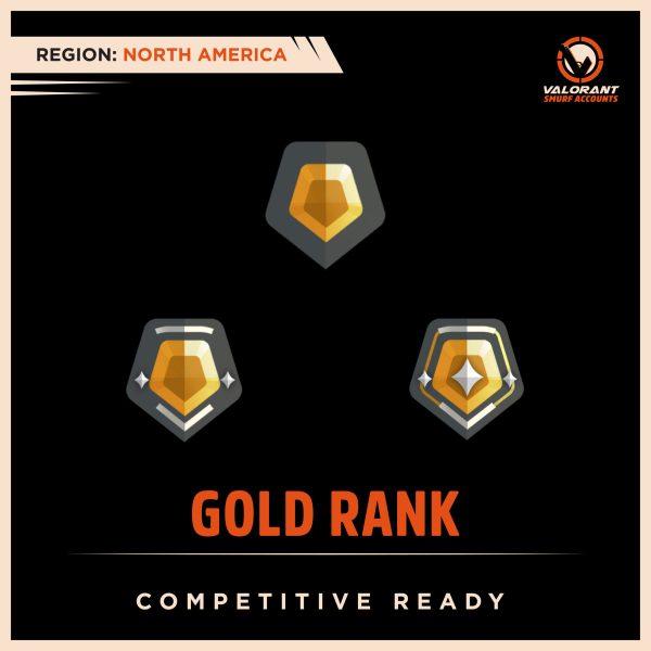 NA Valorant Gold Rank Accounts