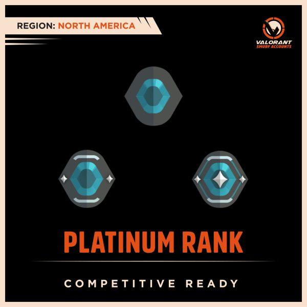 NA Valorant Platinum Rank Accounts
