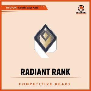 SEA Valorant Radiant rank Account for sale
