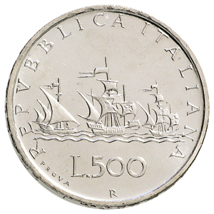 500 Lire Dargento 500 Lire Caravelle E 500 Lire