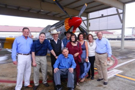 P-51C Uncle Tommy with family