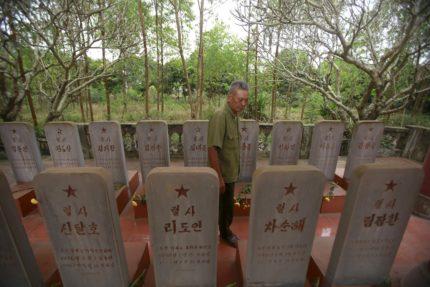north korea pilot's graves
