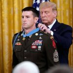"Trump presents Sergeant Major Thomas ""Patrick"" Payne with his Medal of Honor"