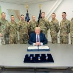 Trump Presents Distinguished Flying Cross to 7 Guardsmen