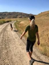 pack walk woman german shepherd boise idaho