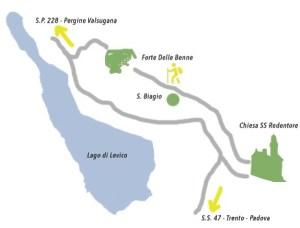 Forte delle Benne o San Biagio a Levico Terme valsugana Trento