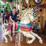 A trip over to Nut Tree to ride the carousel and train next to the air strip