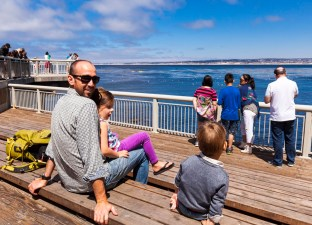 A trip to the Monterey Bay Aquarium for the day to celebrate Sam's birthday