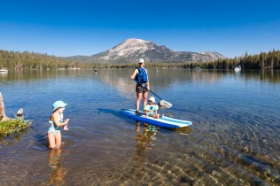 Day Seven: Paddle boarding on Lake Mary next to our campsite in Mammoth Lakes