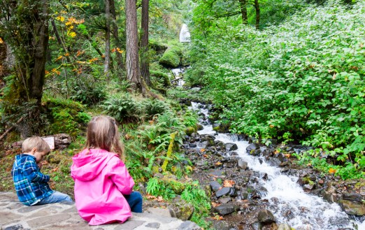 Snacking at Wahkeena Falls