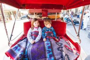 A carriage ride through Old Town Sacramento