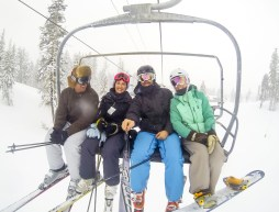On the chairlift with Brooke and Kevin