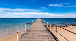 On the beach at Port Noarlunga