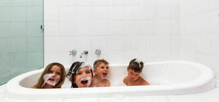 Bathtime shenanigans