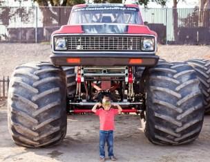 Monster trucks and motocross for Max's birthday