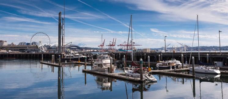 Walking along the Seattle waterfront