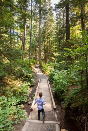 Hiking to Franklin Falls