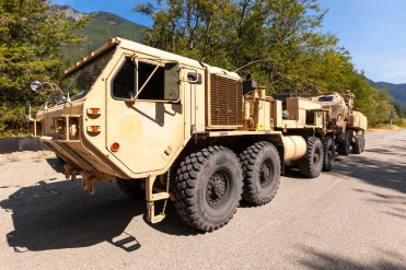 A chance encounter with a battalion on the way between Franklin Falls and Olallie State Park