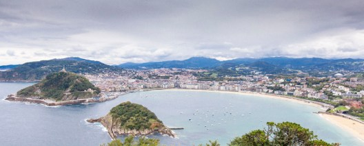 San Sebastian from Mount Igueldo