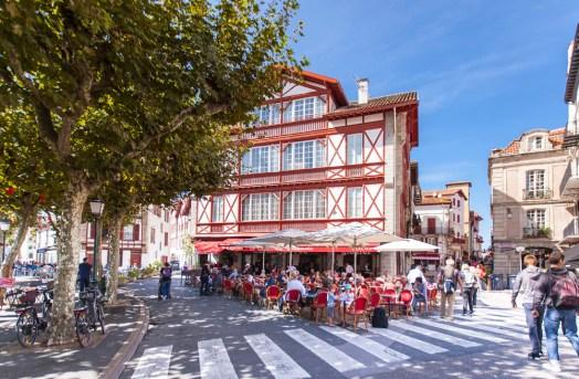 Explroring the main drag in Saint Jean de Luz