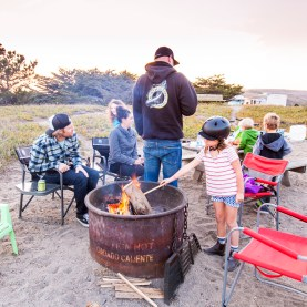 A weekend away from the fires with good friends at Doran Beach